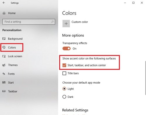 add custom color theme to Start Menu