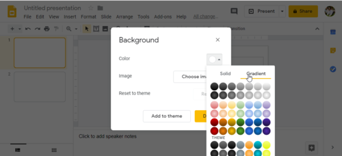 Make a custom Gradient Background in Google Slides