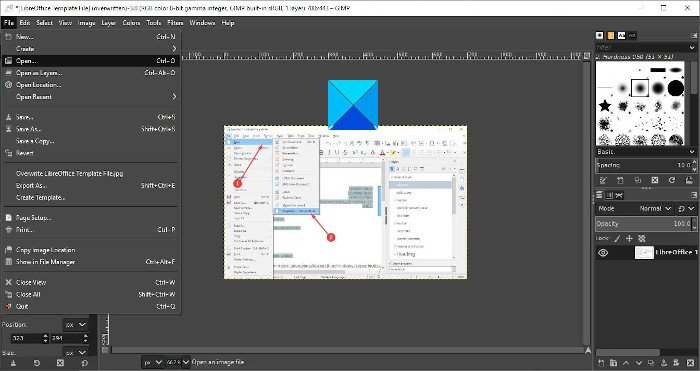 resize images without losing quality with GIMP image editor