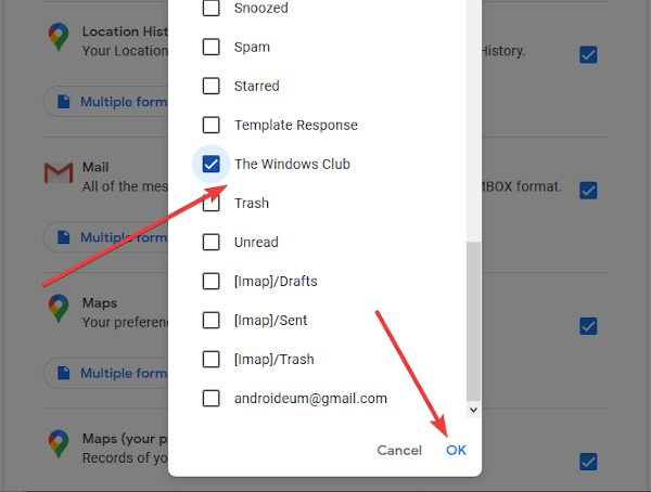 Export Gmail emails as MBOX