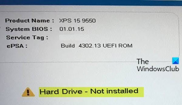 Hard Drive - Not installed