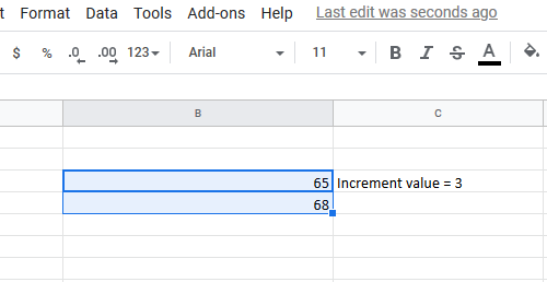 How to automatically fill increment cells in Excel