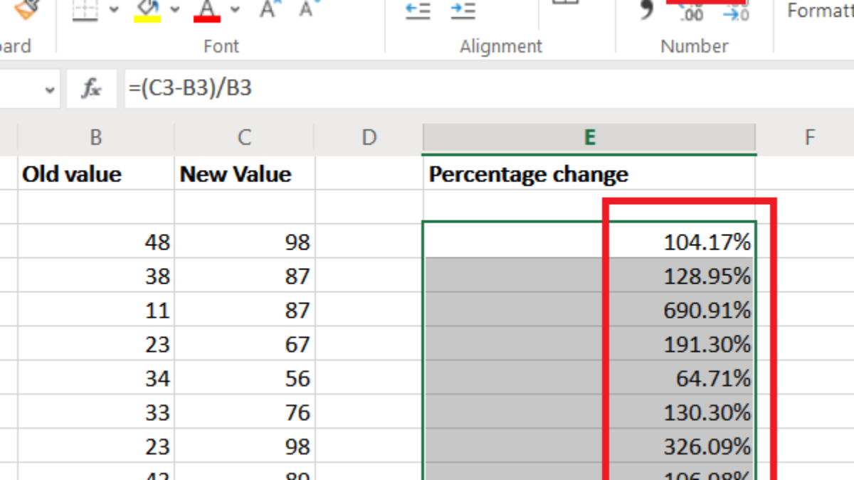 How do you calculate Percentage increase or decrease in Excel