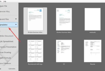 Use a Template to create Document in LibreOffice