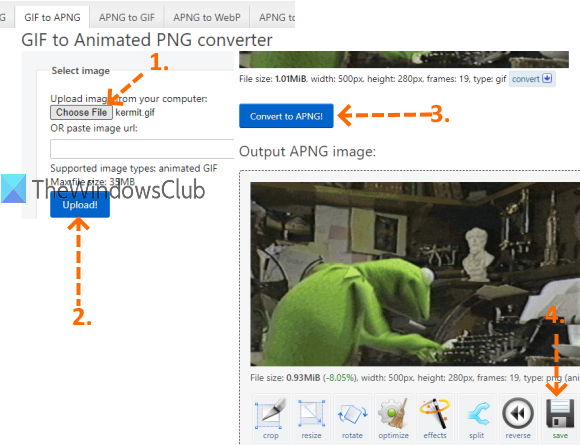 ezgif.com with gif to animated png converter