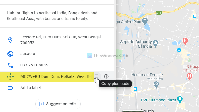 How to find Plus Code of any location on Google Maps