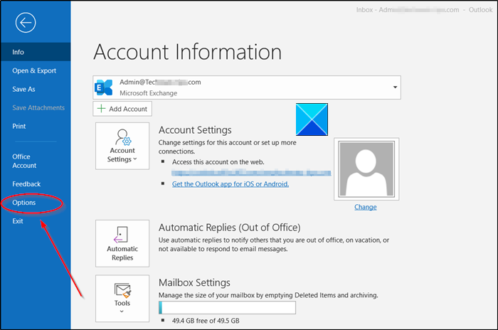 outlook reply options