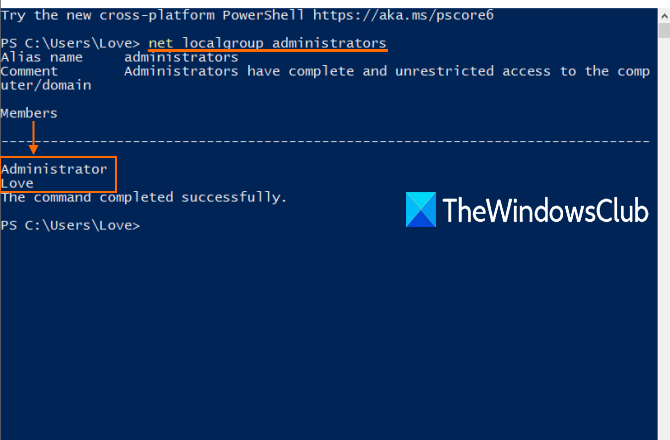 check if user account is administrator account in windows 10