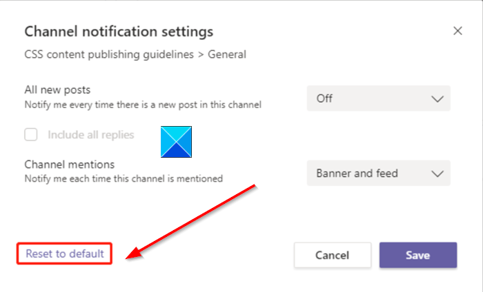 Manage Teams Channel Notification Settings