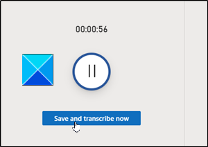 Save and Transcribe