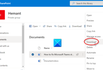 SharePoint download