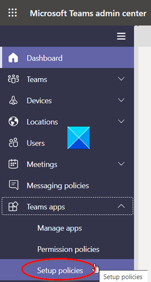 Teams Apps Setup Policies