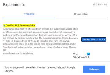 Enable or Disable Rich Address Bar Autocompletion Suggestions in Chrome