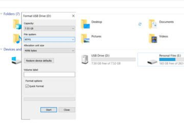 How to format a USB drive in NTFS File System