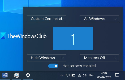WinXCorners adds Mac-style Hot Corners to Windows 10