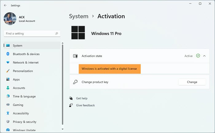 How to validate Windows 11/10 Product key