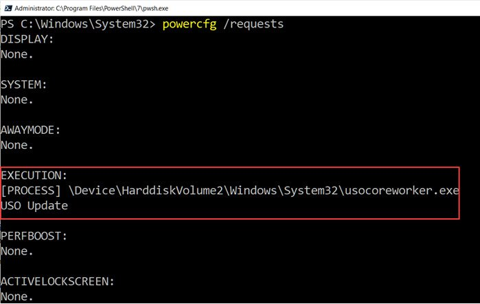 MoUsoCoreWorker in Power Config