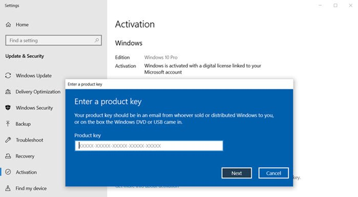 Fix: Change product key link not available in Windows 7/8/10