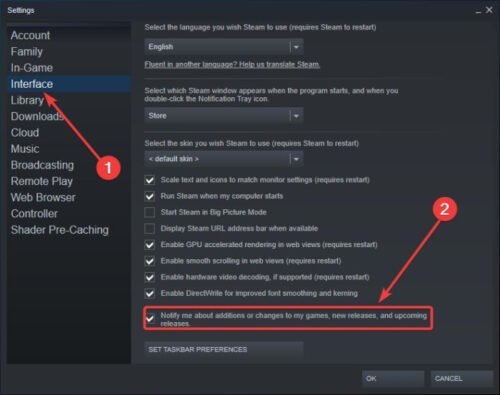 How to remove Steam pop-ups and notifications
