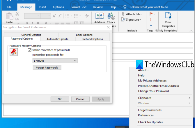 Free Email Encryption Add-ins for Outlook