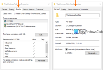 add or remove security tab from file explorer in windows 10