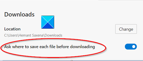 Ask before downloading