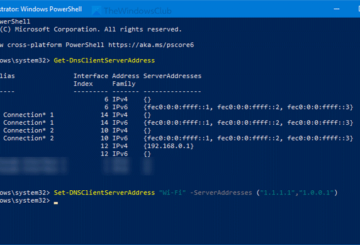 How to change DNS server using PowerShell