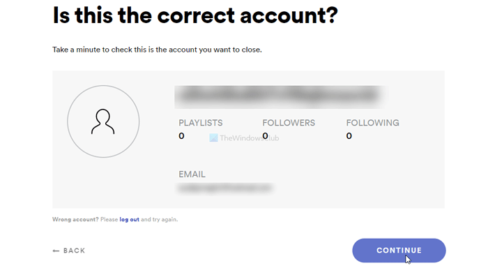 How to close or delete Spotify account permanently