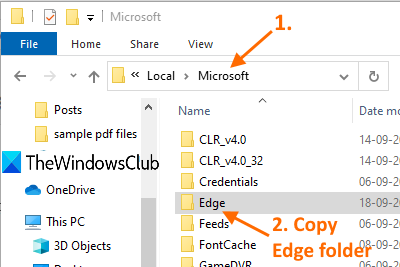 Backup Profiles, Extensions, Settings, Favorites in Edge