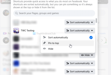 How to edit and manage Facebook Shortcuts