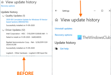 clear update history in windows 10