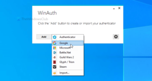 WinAuth is a Google Authenticator alternative for Windows 10