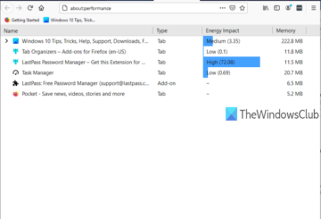 open and use firefox task manager
