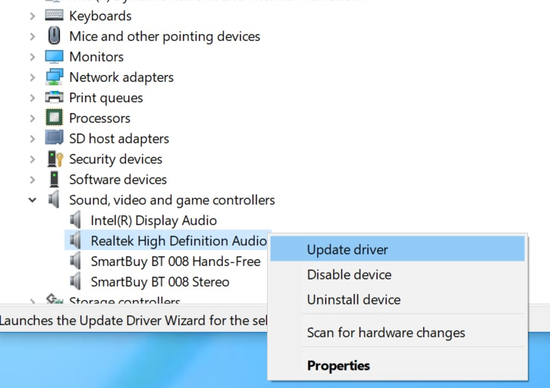 High Definition Audio Device has a driver problem