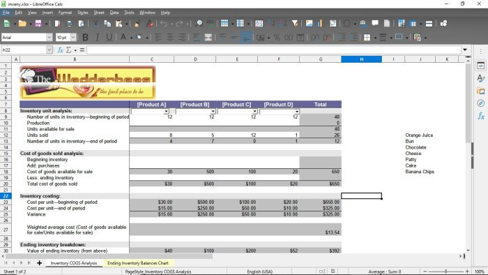 LibreOffice Calc features