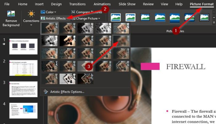 How to blur a Picture in PowerPoint