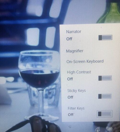 Remove Ease of Access button from Logon screen