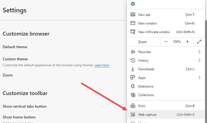 How to use Web capture in Microsoft Edge