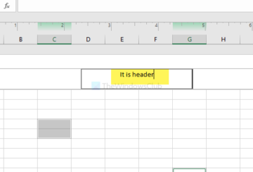 How to add Header and Footer in Excel spreadsheet