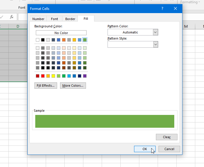 to alternate row colors in Excel