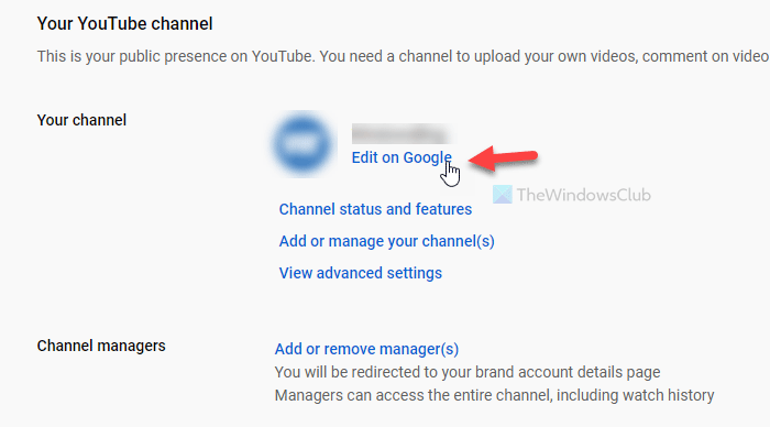How to change the YouTube channel name