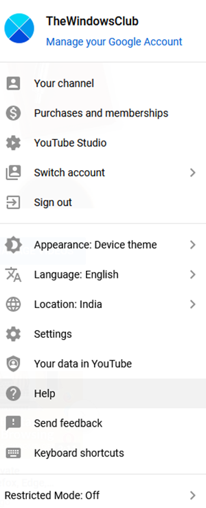 contact YouTube support 1