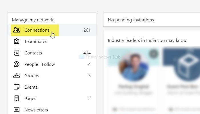How to delete and hide LinkedIn connections