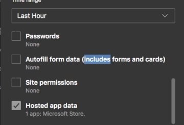 Edge browser not remembering passwords