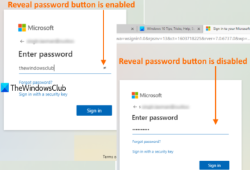 enable or disable reveal password button in microsoft edge