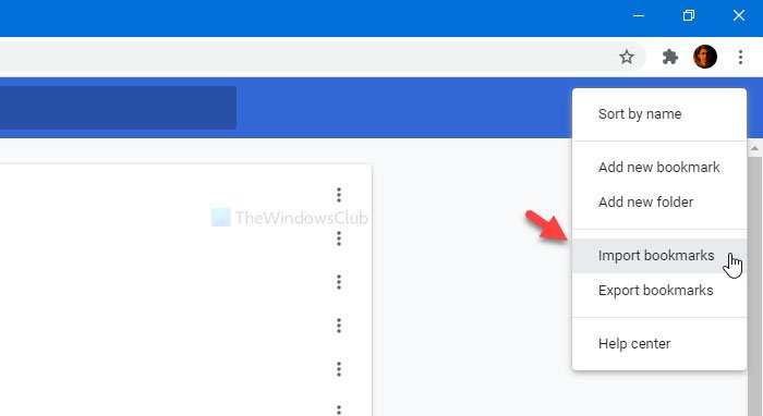 How to import and export Google Chrome bookmarks to HTML