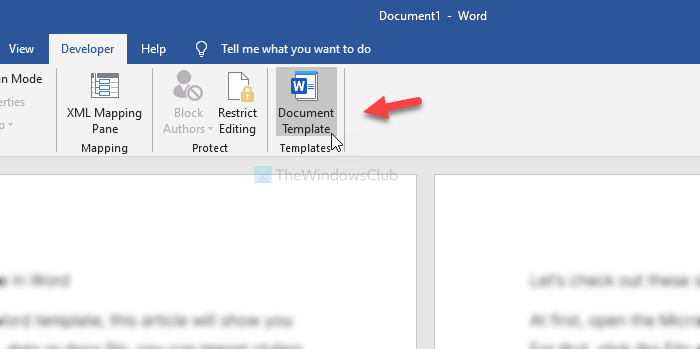 How to import formatting from a template or document in Word