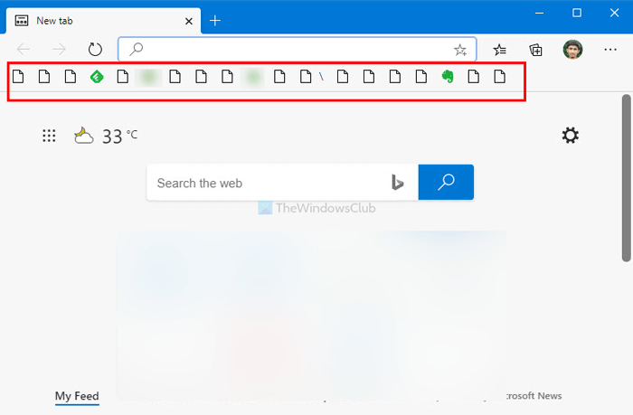 Edge does not show any icon for Favorite websites