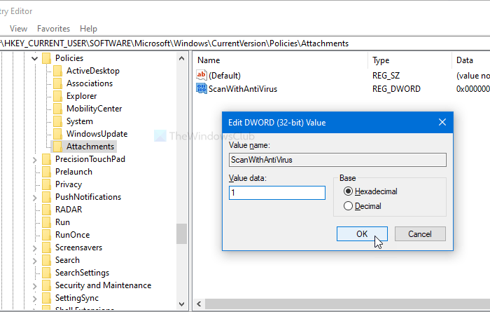 How to prevent Windows from notifying antivirus to scan file attachment