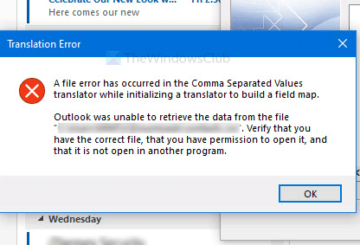 Fix A file error has occurred in the Comma Separated Values translator